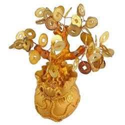 Árbol dorado monedas suerte