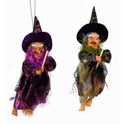 Figura blanda de brujas volando