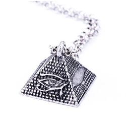 Colgante con piramide y ojo de Horus