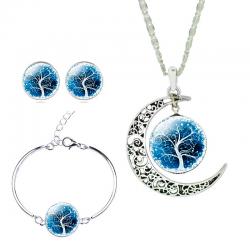 Conjunto árbol de la suerte azul