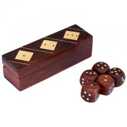 Dados caja artesanal madera