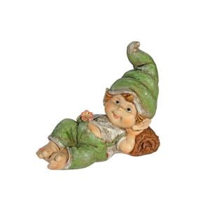 Duende chico tumbado sobre la espalda. Multicolor
