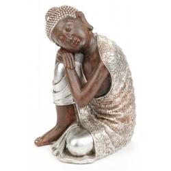 Estatua decorativa con buda sentado