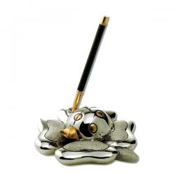 Figura de mariquita con trébol para bolígrafo