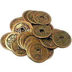 Monedas chinas suerte riqueza