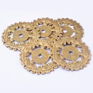 Monedas diámetro grande suerte