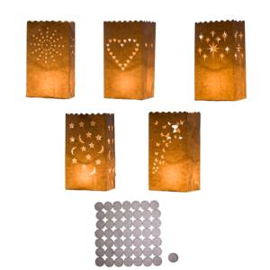 Pack de 50 velas con papel tipo linterna