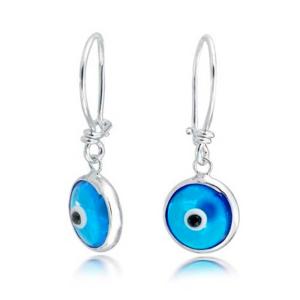 Pendientes ojo turco plata esterlina