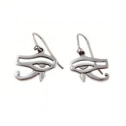 Pendientes de plata esterlina 925 con ojo de Horus