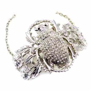 Pulsera con escarabajo y cristal de Svarowski