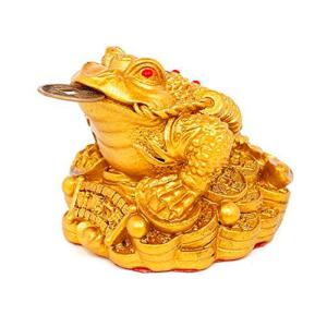 Rana de la suerte color oro