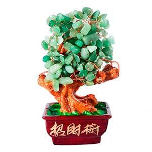 Árbol dinero piedra jade feng shui natural