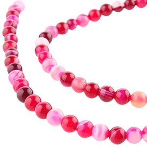 Cadena piedra ágata rosa