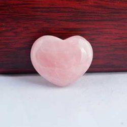 Corazón cuarzo rosa amor