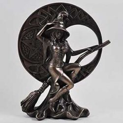 Bruja bronce 17 cm