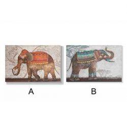 Elefante trompa arriba dibujo