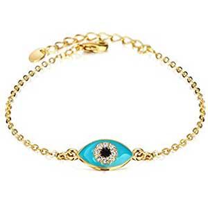 Pulsera chapado oro ojo turco