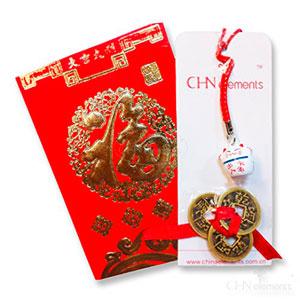 Mejor-Regalo-De-Fengshui-set-one-gato-rojo-de-la-suerte-colgante-de-telfono-3-monedas-de-riqueza-envelop-3-0