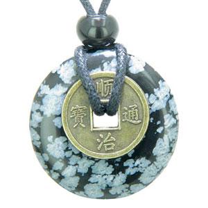 Moneda-de-la-suerte-poderes-de-proteccin-mal-de-Ojo-amuleto-Obsidiana-copo-de-nieve-30-mm-Donut-colgante-0