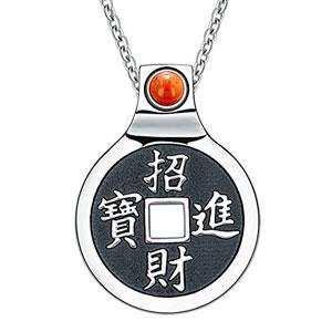 monedas-de-la-suerte-Feng-Shui-Amulet-Kanji-Magia-y-Fortune-Poderes-Encanto-nico-collar-de-jaspe-rojo-18-0