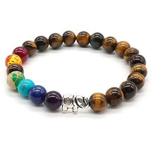7-Chakra-piedra-pulsera-ojo-de-tigre-de-piedra-natural-de-piedras-preciosas-perlas-redondas-de-pulsera-Lucky-Elephant-0