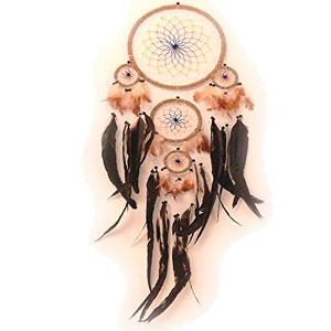 Atrapasueos-con-plumas-de-verdad-Dreamcatcher-de-color-dimetro-22-cm-longitud-70-cm-0