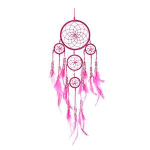Atrapasueos-hecho-a-mano-rosa-con-perlas-de-plata-12-cm-x-35-cm-0
