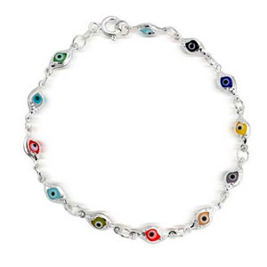 Bling-Jewelry-Plata-Esterlina-Multicolor-Pulsera-mal-de-ojo-7-pulg-0