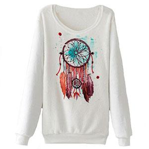 DELEY-Otoo-Invierno-Caliente-Ropa-Mujeres-Nias-Felpa-Suave-Cuello-Redondo-Impresin-Hoodie-Sudadera-Pullover-Tops-Blusa-Camisa-0