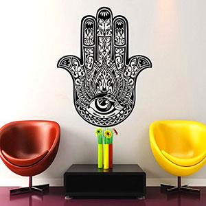 Dormitorio-Vinilos-decorativos-Yoga-Ftima-Mano-de-Hamsa-indio-Ganesh-Buda-Lotus-Adhesivos-de-vinilo-etiqueta-decoracin-de-la-pared-Interior-de-la-casa-estudio-del-diseo-del-arte-MN417-0