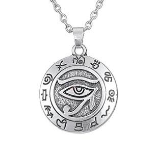 Fengteng-El-Ojo-de-Horus-Amuleto-Cobra-Disco-Collar-Colgante-con-Cadena-Para-Hombres-Mujeres-0