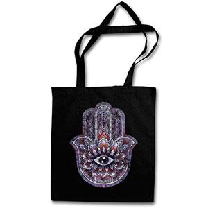 HAMSA-Hipster-Shopping-Cotton-Bag-Cestas-Bolsos-Bolsas-de-la-compra-reutilizables-Jamsa-Sefard-mano-India-Symbol-Insigna-Sign-Zeichen-Islam-Muslim-Northafrica-Muslime-Indien-0