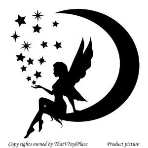 Hada-con-luna-y-estrellas-adhesivo-decorativo-para-pared-25-cm