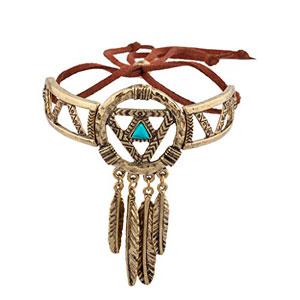 LUX-accesorios-Burnish-oro-Atrapasueos-Navajo-pulsera-0