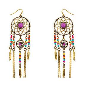 LUX-accesorios-blanco-Navajo-Atrapasueos-Dangle-Pendientes-0