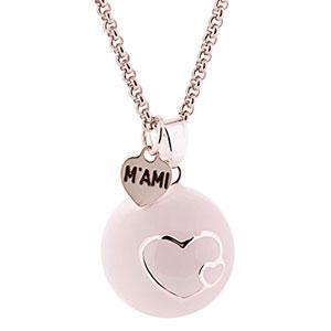 Llamador-de-ngeles-MAMI-esmaltado-blanco-con-corazones-y-con-cadena-de-acero-0