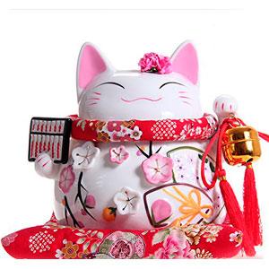 Maneki-Neko-afortunado-japons-del-gato-de-porcelana-con-el-baco-grande-de-alta-calidad