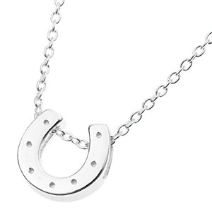 Plata-de-Ley-925-buena-suerte-herradura-con-encanto-collar-de-cadena-de-16-pulgadas-Extensor-de-1-pulgada-0