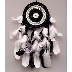 vgia-Atrapasueos-con-plumas-y-cuentas-adorno-regalo-color-negro-y-blanco-0