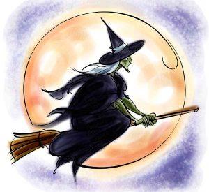 bruja suerte volando